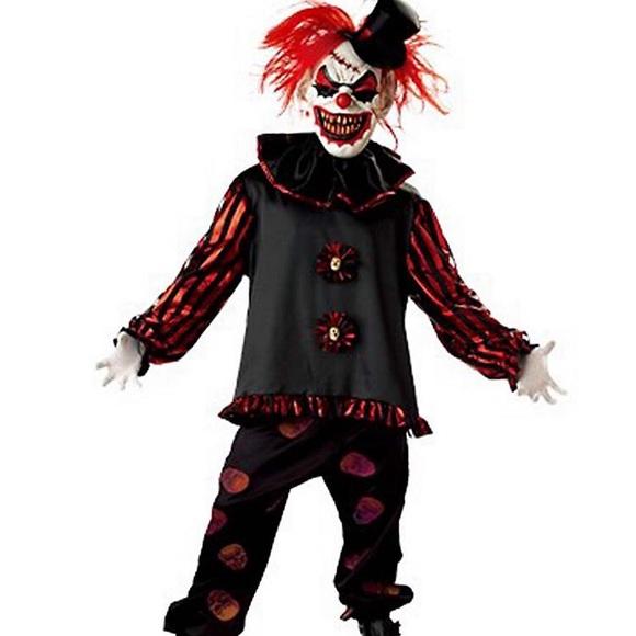 Scary Clown Halloween Costume.Scary Clown Halloween Costume